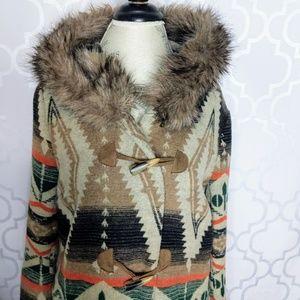 BB Dakota Jackets & Coats - BB Dakota Santa Fe Fur Trim Coat